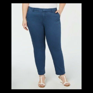 Style & Co Women's 18w Plus Size Mid-Rise Chinos